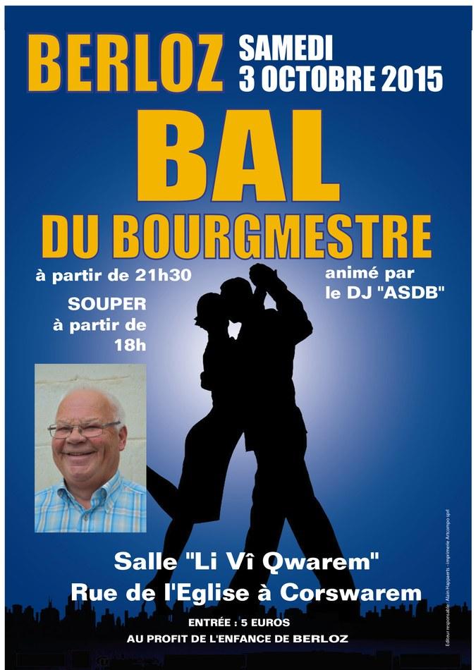 Bal du Bourgmestre 2015 Affiche