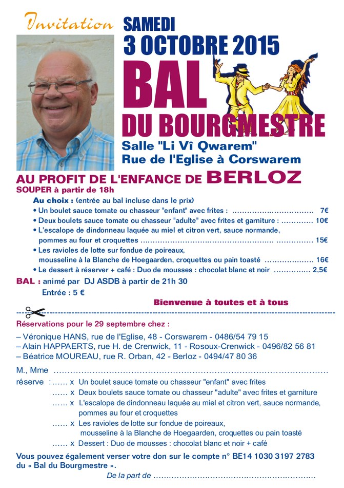 Bal du Bourmestre 2015 Invitation