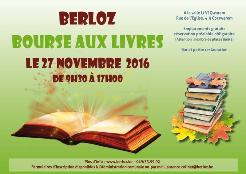 affiche bourse aux livres 27 nov 2016 fonds vert