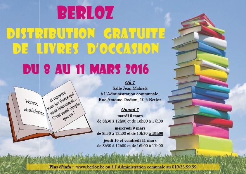 affiche distribution gratuite de livres