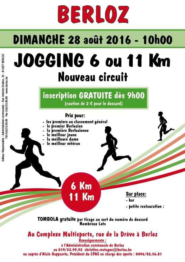 affiche jogging août 2016