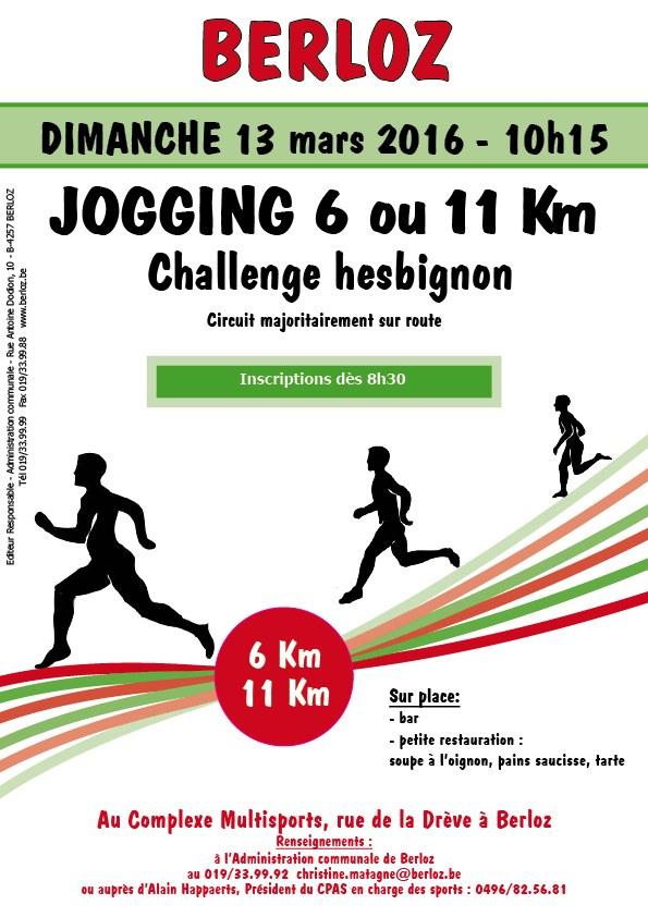 affiche jogging challenge hesbignon 2016