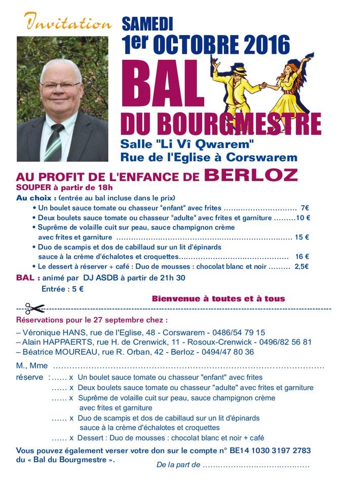 Bal du Bourgmestre 2016   invitation