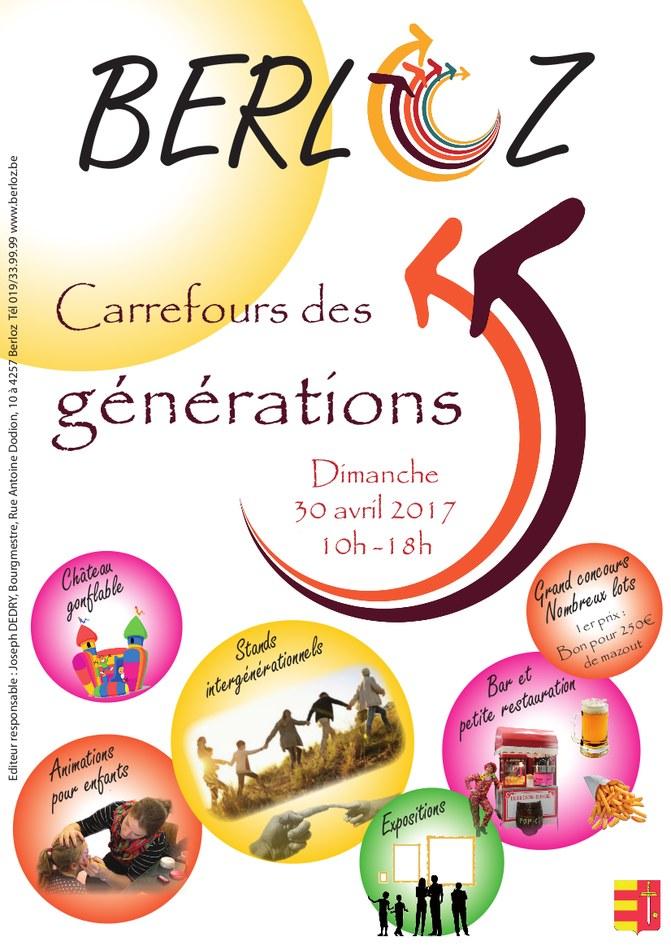 Carrefour des Générations 2017 Affiche   couverture