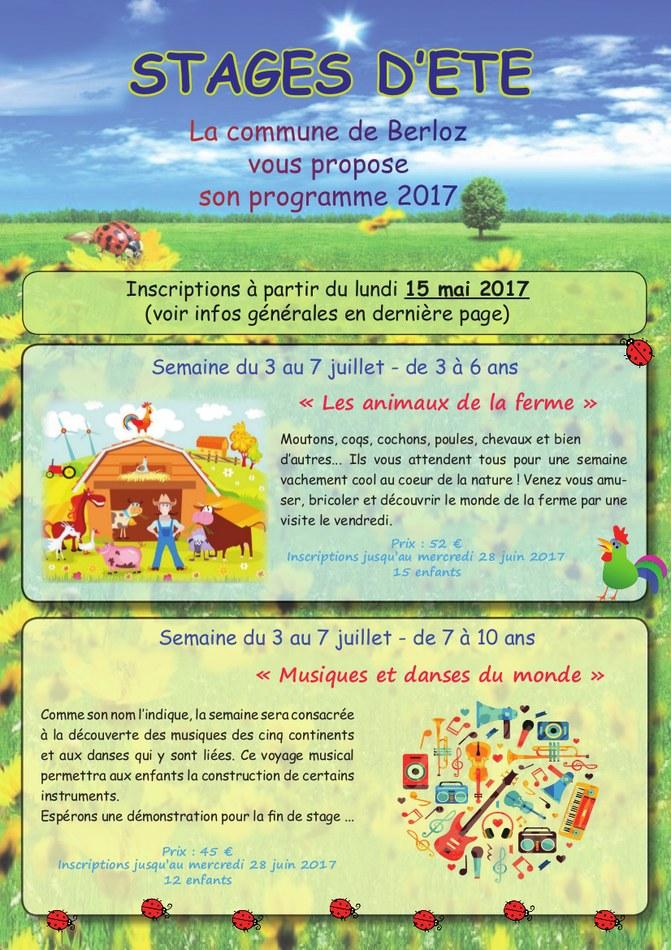 Stages été 2017   brochure page 1   site