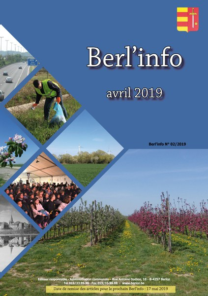 Berl'info avril 2019   couverture