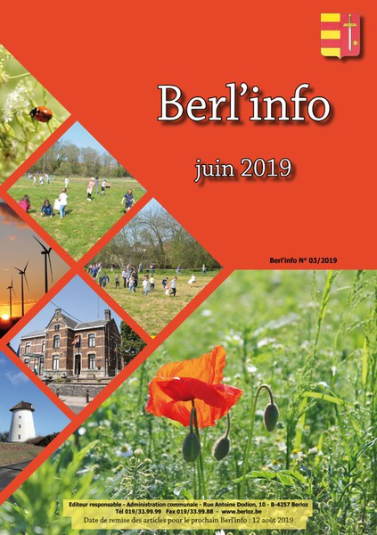 Berl'info juin 2019   couverture