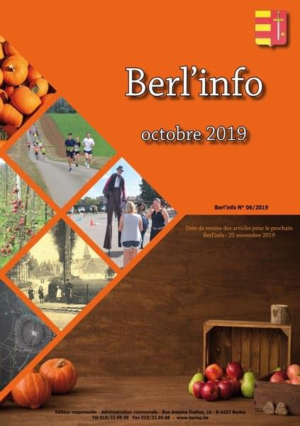 couverture Berl'info octobre 2019