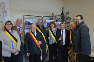 La Berle - Inauguration pose 1re pierre le 16/12/2016
