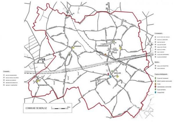 Plan rues Berloz