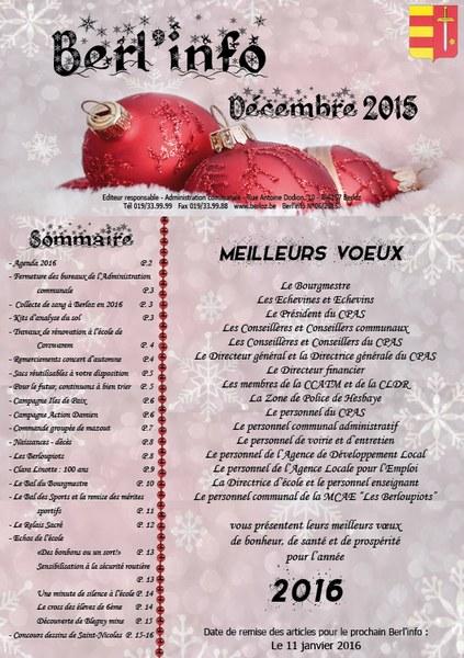 Berl'info décembre 2015