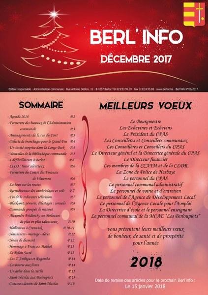 Berl'info décembre 2017   couverture
