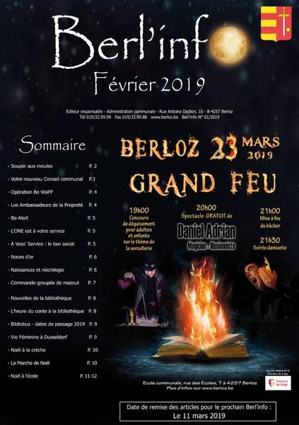 Berl'info février 2019   couverture