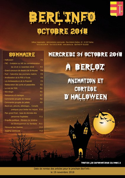 Berl'info octobre 2018   Couverture