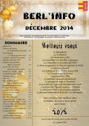 couverture berl'info decembre 2014