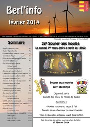 couverture Berl'info fevrier 2014