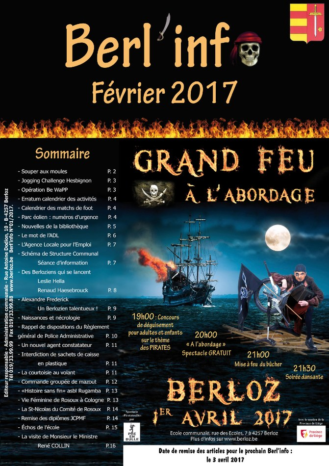 couverture Berl'info février 2017 bis