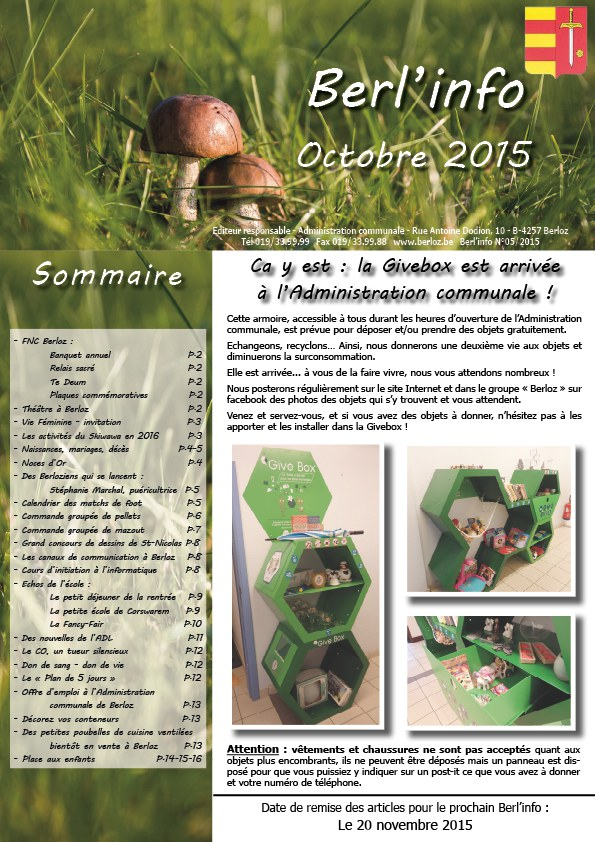 couverture berl'info oct 2015