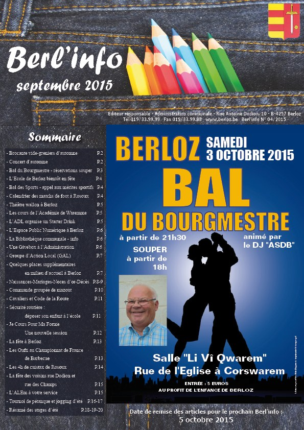 couverture berl'info sept 2015