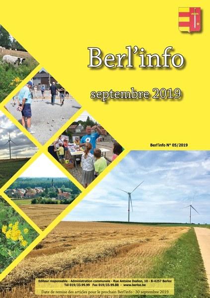 couverture Berl'info septembre 2019