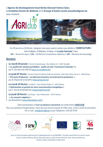 AgriClub   invitations cycle 2019