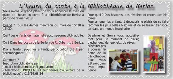 Bibliothèque   heure du conte